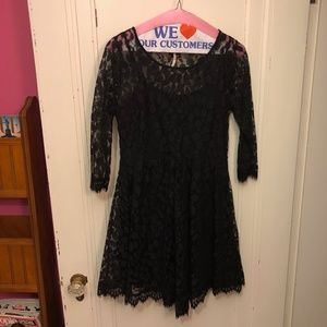 Free People Black Lace Dress Size 2
